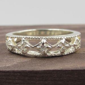 Jewelry - Size 7 Sterling Silver Avon CZ Diamond Band Ring